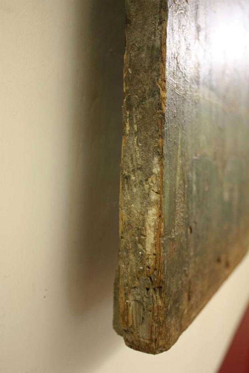 Raro pannello ligneo dipinto con angeli di cm 155 per cm 93 ...
