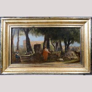 Antiquares-Dipinto-con-veduta-di-Roma-1