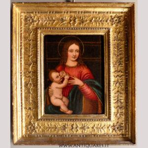 Antiquares-Madonna-con-Bambino-Marco-D'Oggiono-1a